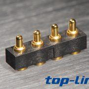 4pin 弹簧针连接器