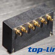 6pin侧接弹簧针连接器