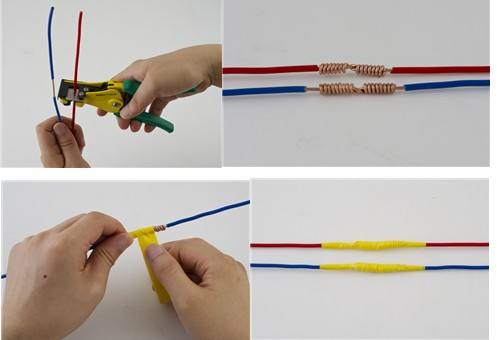 传统电线连接方法